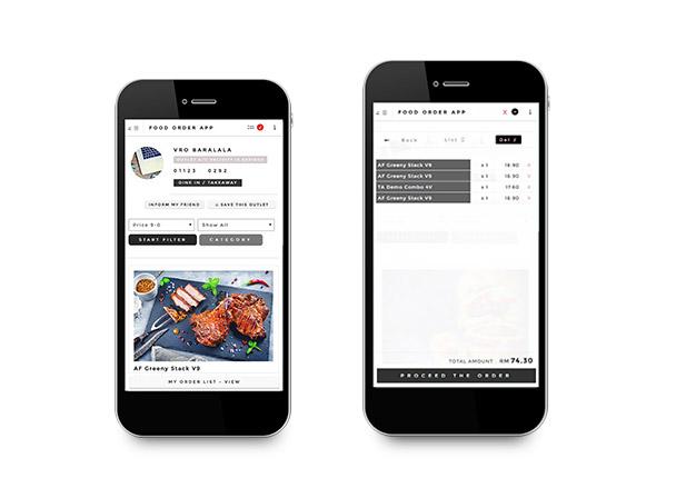 GroupMakan Customer Self Order Features